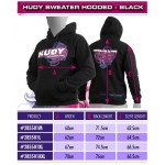 HUDY SWEATER HOODED - BLACK (XXL)