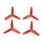 3D prop, třílisté 3,8x3,5 vrtule, 4ks. - červené