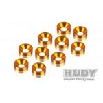 HUDY hliníkové spec.podložky - oranžové (10)