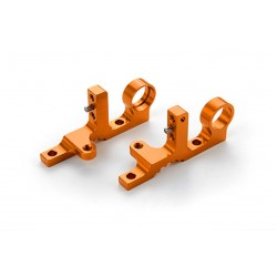 T4F ALU FRONT UPPER CLAMP (L+R) - ORANGE