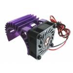 ALU chladič s ventilátorem pro motory 540 a 550 - Fialový