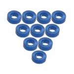 Aluminium M3 Flat Washer 2.0mm (10 Pcs) - Blue