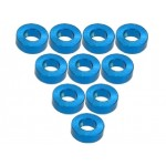 Aluminium M3 Flat Washer 2.0mm (10 Pcs) - Light Blue