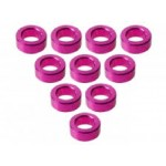 Aluminium M3 Flat Washer 2.0mm (10 Pcs) - Pink