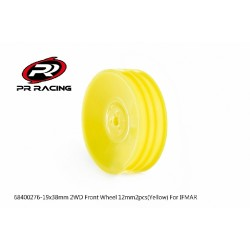 19x38mm 2WD Front Wheel 12mm*2pcs(Yellow)For IFMAR-#3