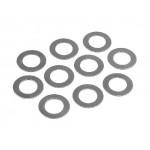 Podložky 7x12x0.3 (10ks) Ocelové