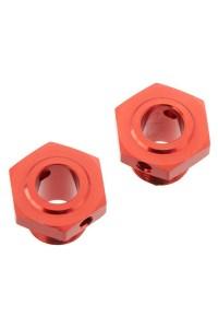 Arrma AR310447 Náboj kola 17mm/13,6mm hliník červený (2)