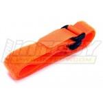 Univerzální stahovací pásky pro baterie 270mm (2ks) Oranžové