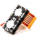 .Alu chladič + 2xventilátor pro motory vel.750 - Orange