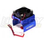 Chladič motoru 540 s ventilátorem (modrý)