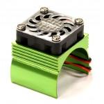 ALU chladič elektro motorů 540/550 - Zelený s ventilátorem