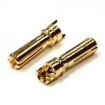 GOLD konektor 4mm - samec (2ks)