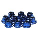 Matice 3mm (10ks) s límcem - Modré