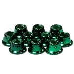 Matice 4mm s přírubou (10ks) Zelené