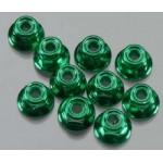 Matice 5mm (10ks) s límcem - Zelené