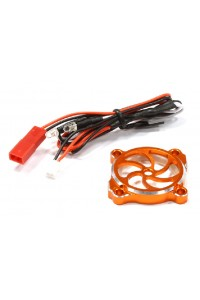 AKCE - ALU kryt chladiče 30x30mm s LED - Oranžový