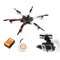 F550 + Naza-M V2 + GPS + podvozek + adapter + H3-3D