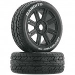 Bandito Buggy Tire Mounted Spoke (2) (17mm SK) 1/8