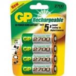 Baterie GP 2700mAh AA 4ks baterie nabíjecí