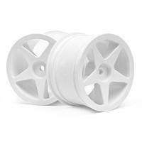 AKCE! Disk kola, 5 paprsků, bílý (60x38mm/2ks)