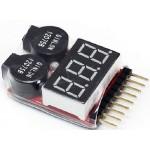 Tester Lipol baterií 1-8S (digitální)