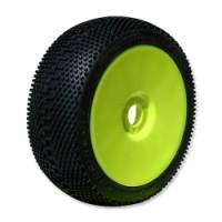 AKCE! SQUARE IMPACT (supersoft/fialová směs) 1:8 Buggy gumy nalep. na žlutých disk. (4ks.)