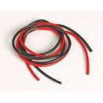 Silikonový kabel 3,3qmm, 12AWG, 2x1metr, černý a červený