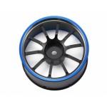 M12/M12S hlinikový volant černo/modrý