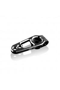 Servo páka hliníková 15 a 19 mm, 25 zubů, černá
