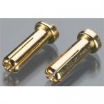 Konektor samec 5mm GOLD - (2KS)