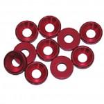 3 MM. ALU. podložky červené (10 ks.)