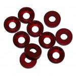 4 MM. ALU. podložky červené (10 ks.)