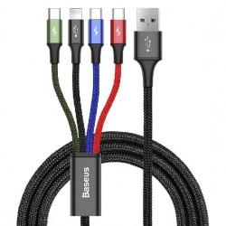 Kabel USB Baseus Fast 4w1 2xUSB-C / Lightning / Micro 3,5A 1,2m