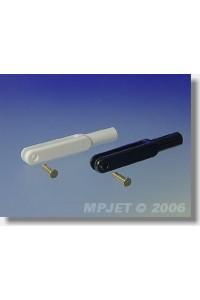 2124 Vidlička plast, l=44 mm, šířka drážky 3, čep pr.2,5, M3 Bílá 2ks