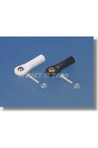 2431 Kulový čep V1, pr.5mm, M2,5/2 Krátký Černý 6ks