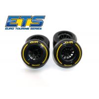 Ride F1 Rear Rubber Slick Tires GR Compound 61mm Preglued Asphalt (2pcs)