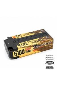 Sunpadow 7.4V 2S 5100mAh 100C/50C Shorty LiPo Battery