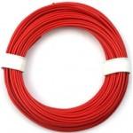 Kabel silikon 0.25mm2 1m (červený)
