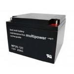 Pb akumulátor MULTIPOWER 12V/26,0Ah