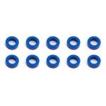 Ballstud podložky, 5.5x2.0mm, modré alu, 10 ks.