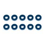 Bulkhead podložky, 7.8x3.5x2,0mm, modré alu, 10 ks