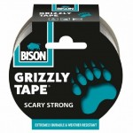 BISON Grizzly tape 10m Stříbrná