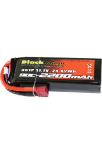 Black Magic LiPol 11.1V 2200mAh 90C Deans