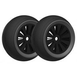 Off-Road 1/8 Truggy gumy - nalepené na černém disku - 1 pár