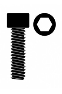 Ocelový Inbusový šroub s válcovou hlavou, M3x8mm, 10 ks.
