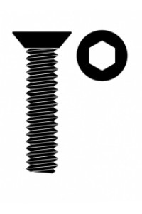Ocelový Inbusový šroub s zápustnou hlavou, M4x16mm, 10 ks.