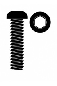 Ocelový Inbusový šroub s čočkovitou hlavou, M3x10mm, 10 ks.
