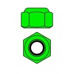 Hliníkové Nylon STOPmatky M2 - zelené - 10 ks.