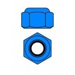 Hliníkové Nylon STOPmatky M2 - modré - 10 ks.