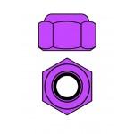 Hliníkové Nylon STOPmatky M3 - fialová - 10 ks.